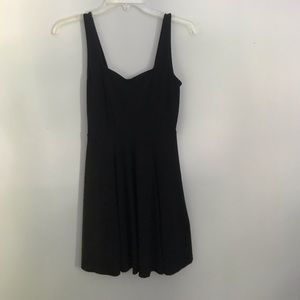 Black fit and flare dress from Express